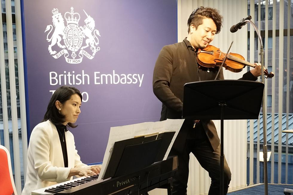 Mr. Tatsuya Yamauchi(violin), Ms. Kaori Yamauchi(piano)