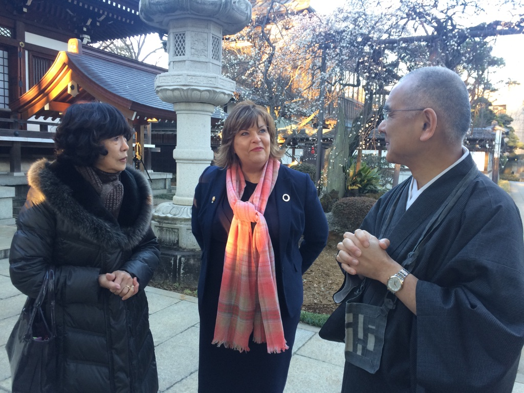 Fiona Hyslop with Taeko Seki (left) from the Japan Scotland Association, and Mr Hirai (right) at the Anyoi.jpg
